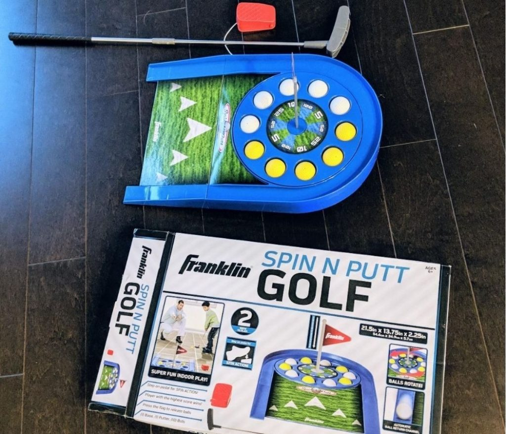 kids spin and putt golf game