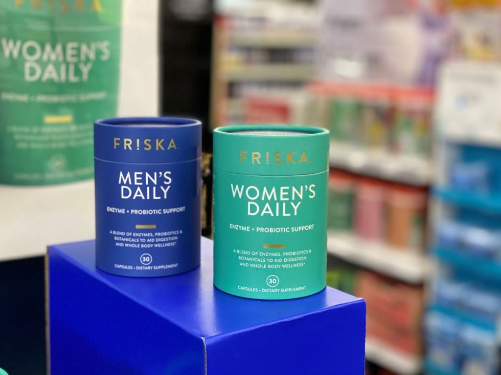 two packages of Friska vitamins
