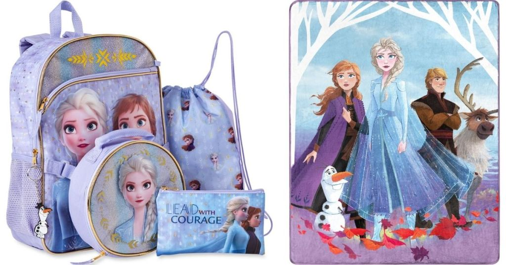 Frozen Backpack and Blanket
