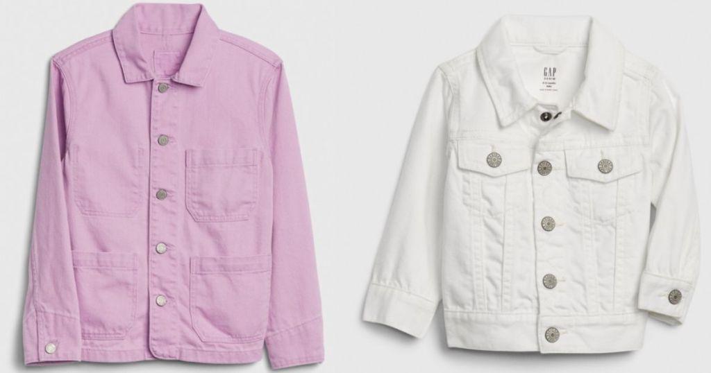 two kids denim jackets