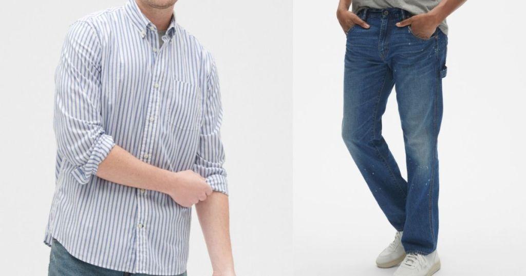 men's shirt and pants