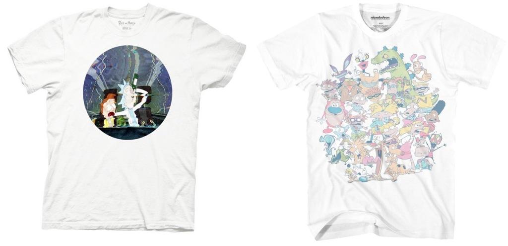 Rick & Morty and Nickelodeon men's graphic tees