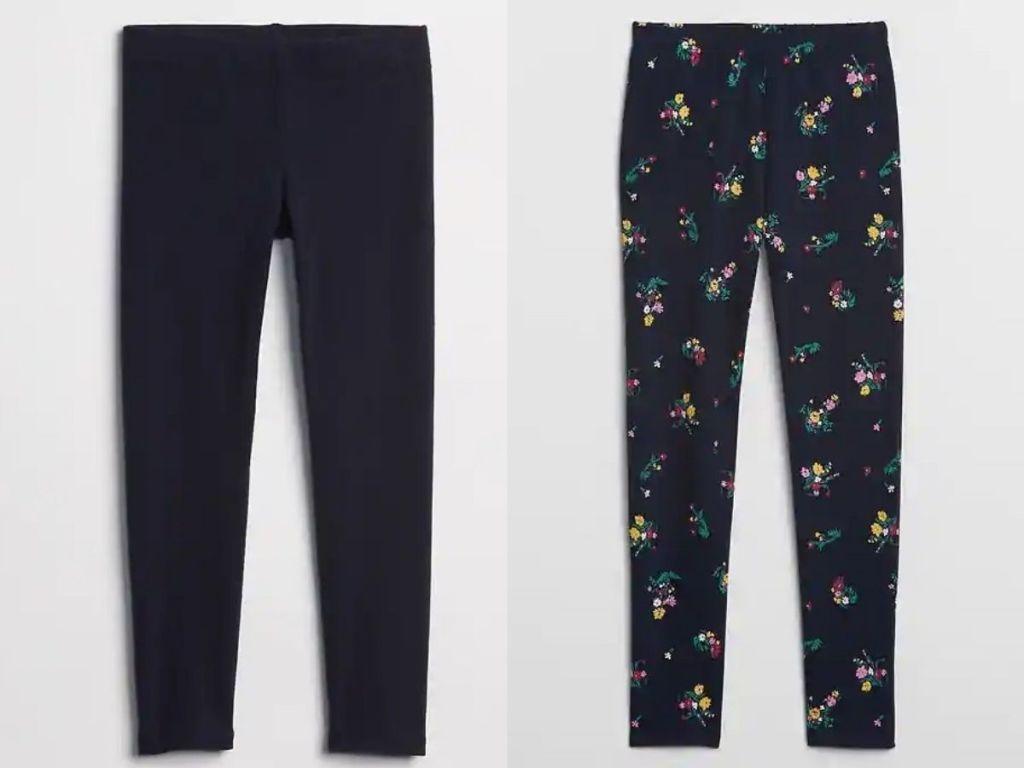 two pairs of Gap girls leggings