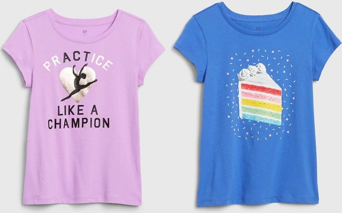 two Gap girls t-shirts