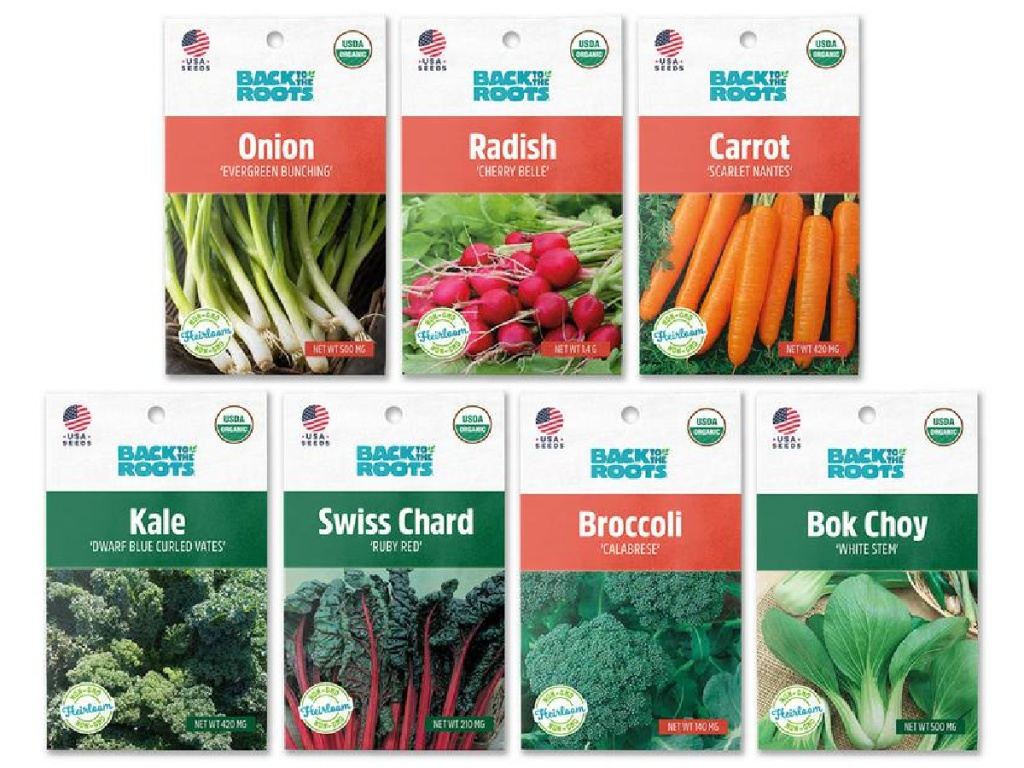 Back to The Roots Organic Seed packets