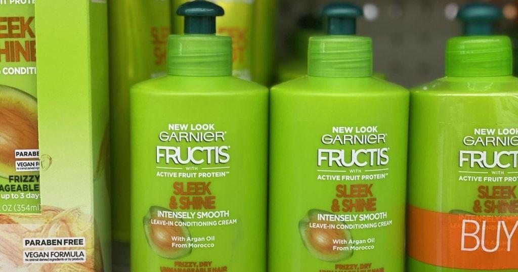 row of Garnier creams on shelf