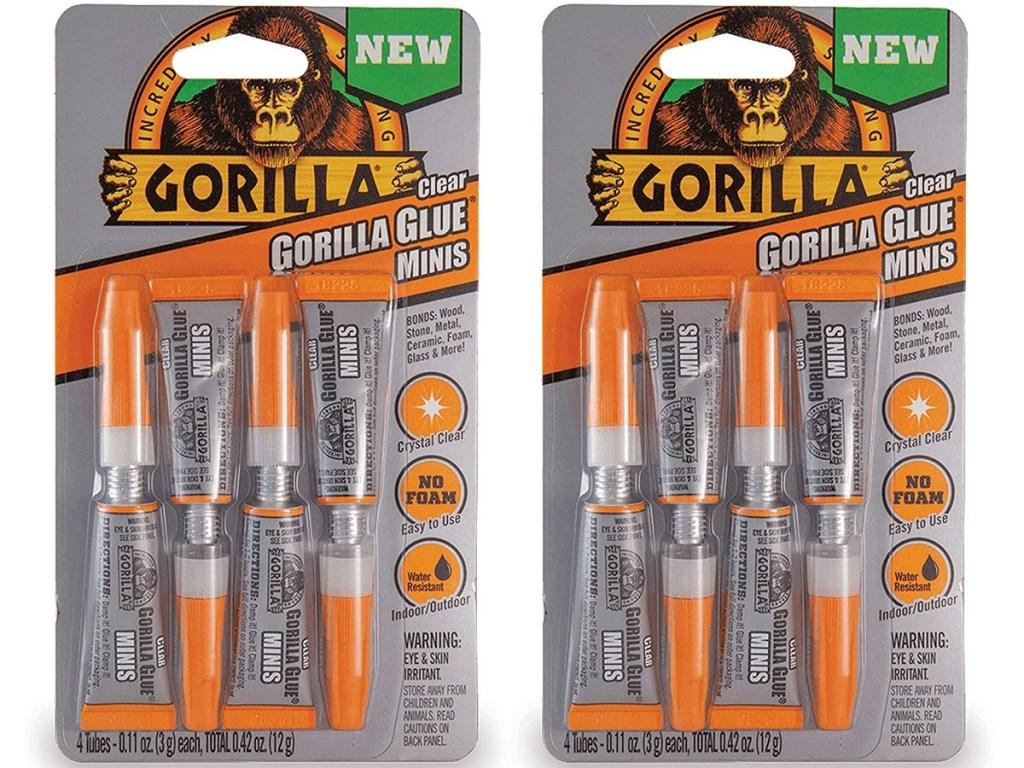 two packs of mini super glue