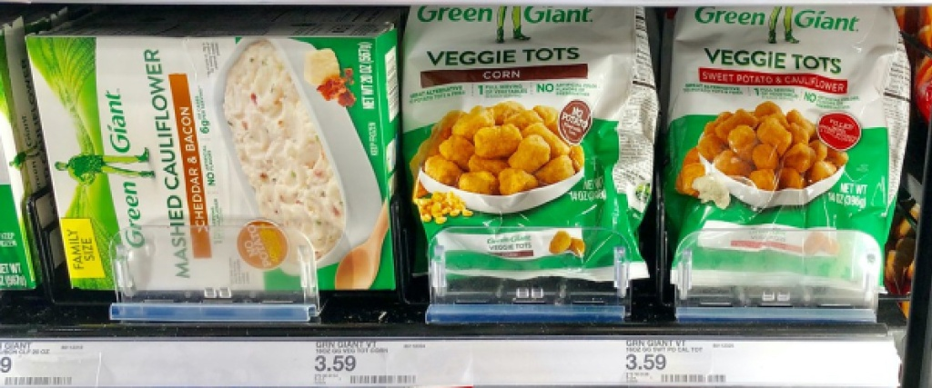 frozen veggie tots and mashed cauliflower in store