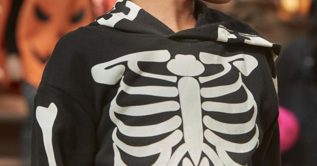 Kids HM Sweatshirt with skeleton print