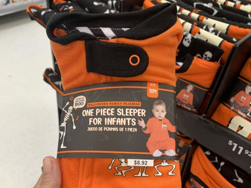 Halloween Family Pajamas Walmart Baby Sleeper