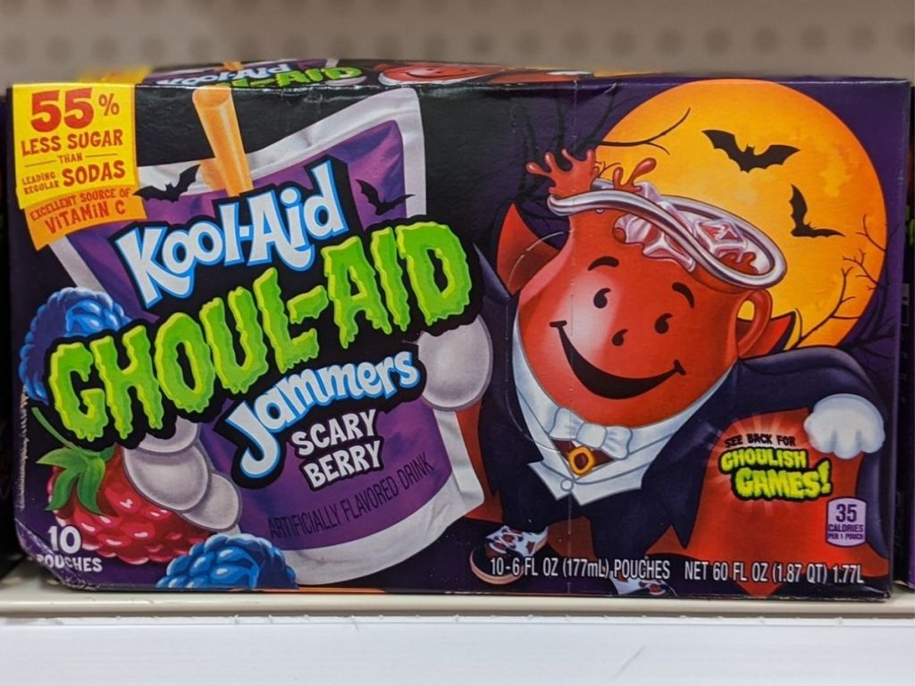 Halloween Ghoul-Aid Jammers Juice Pouches