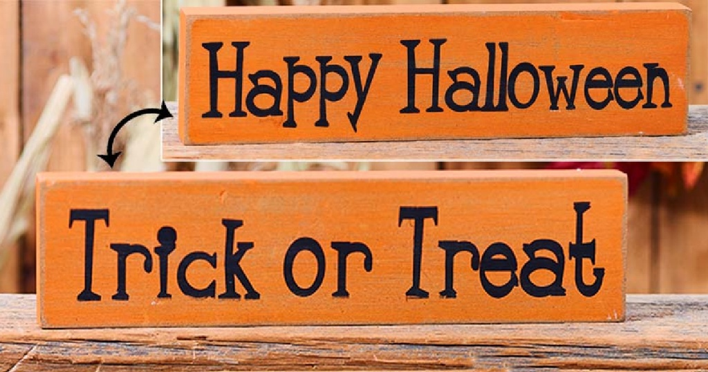 Happy Halloween and Trick or Treat Wood signs