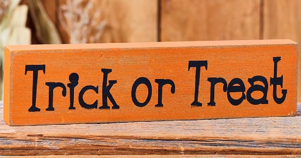 Trick or Treat Halloween Wooden sign