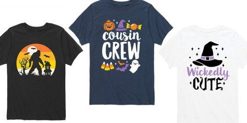 Halloween Kids Graphic Tees Only $10.99 on Zulily