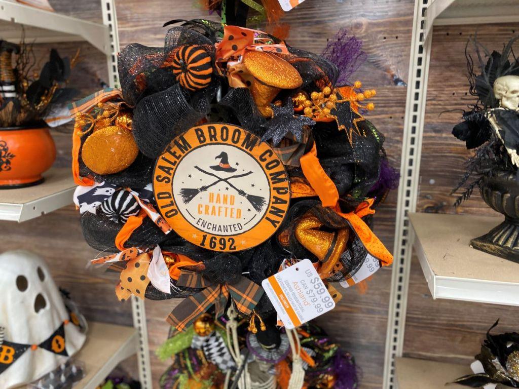 Halloween themed wreath