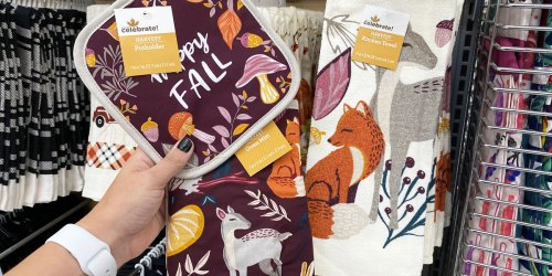 Fall & Halloween Kitchen Towels, Pot Holders & Oven Mitts Just 94¢ at Walmart