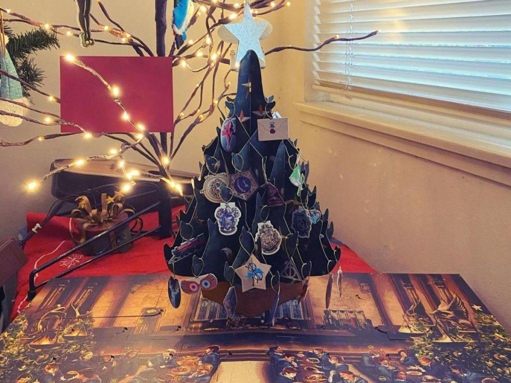 Christmas tree popup advent calendar