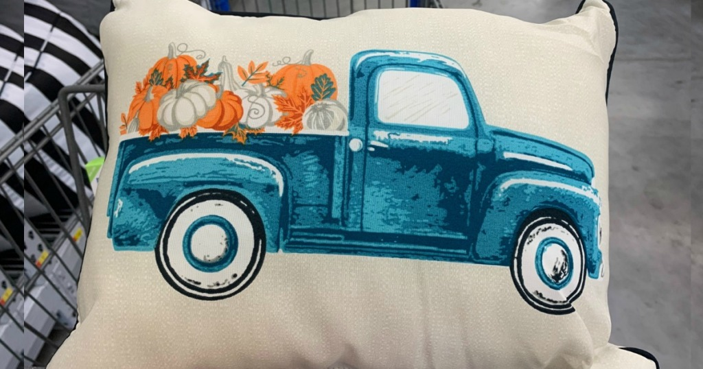 Harvest Truck Pillow from Walmart