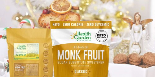 Ready to Ditch Sugar? Get 50% Off Health Garden Monk Fruit Sweetener on Amazon