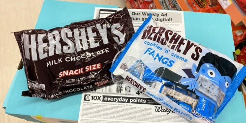 Hershey's Snack Size Candy Bags Only $1.49 Each at Walgreens | Stock up for Halloween!
