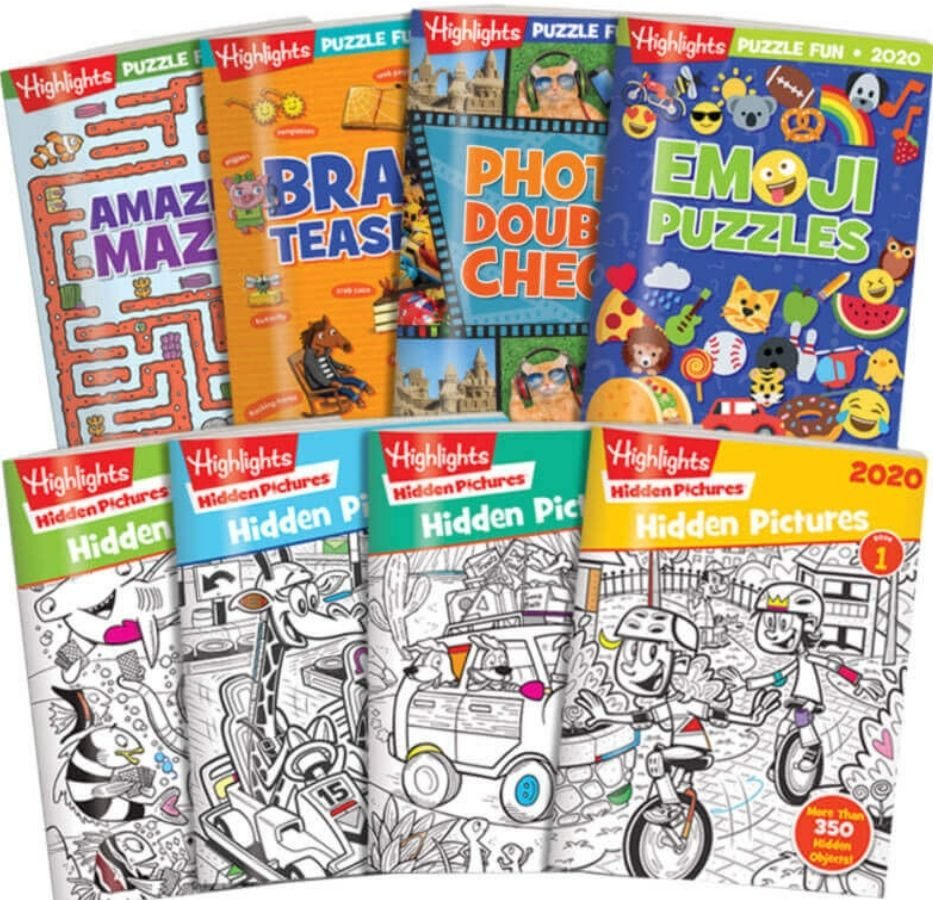 set of 8 Highlights activity books