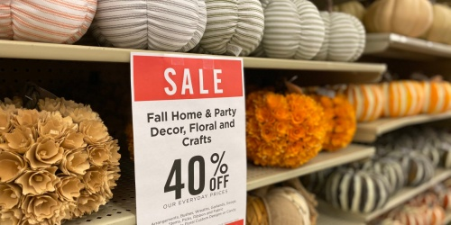 40% Off Fall Items at Hobby Lobby | Decor, Drinkware, & More