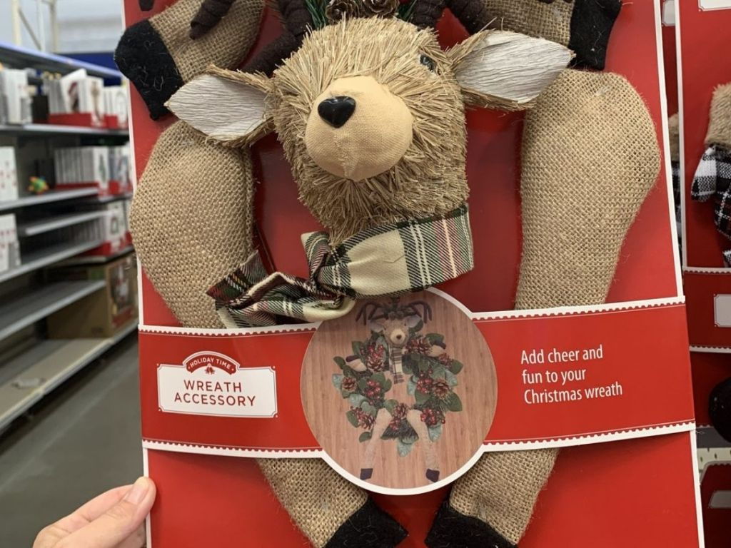 Hol,iday Time Reindeer Wreath Add-on