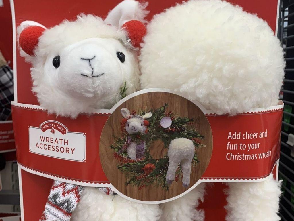 Holiday Time Llama Wreath Accessory