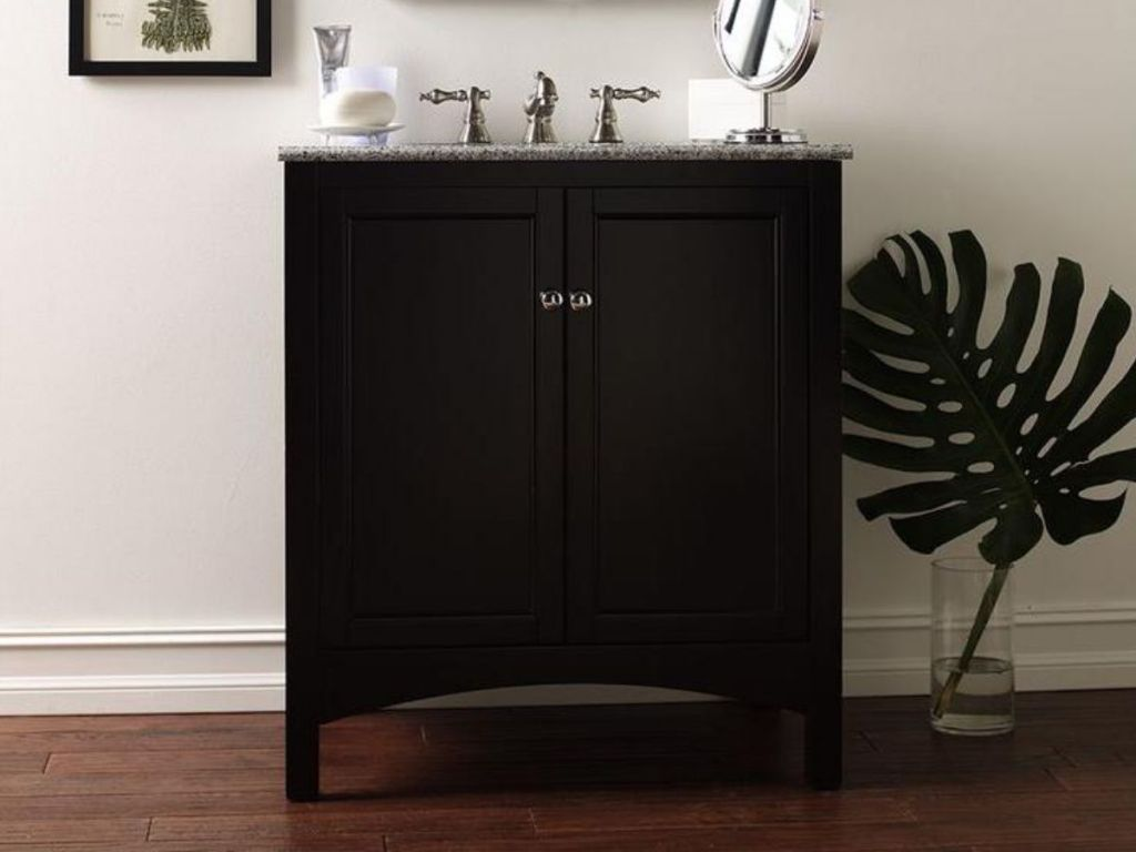 black Home Decorators Collection Bathroom Vanities