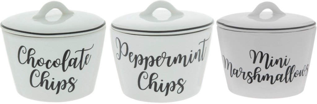 Hot Cocoa Topping Bowls