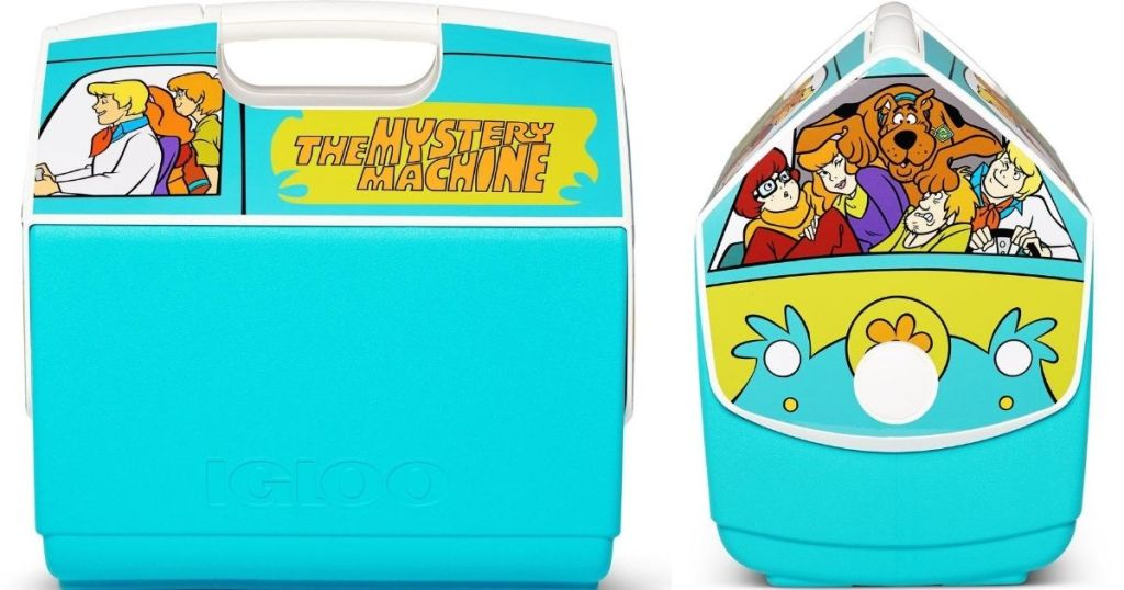 side and front view of an IGLOO cooler