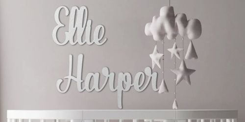 2 Large Personalized Name Signs from $49.98 Shipped | Great Baby Shower Gift