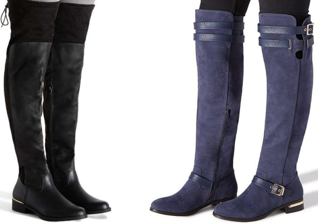 Two Women Wearing over the knee style boots