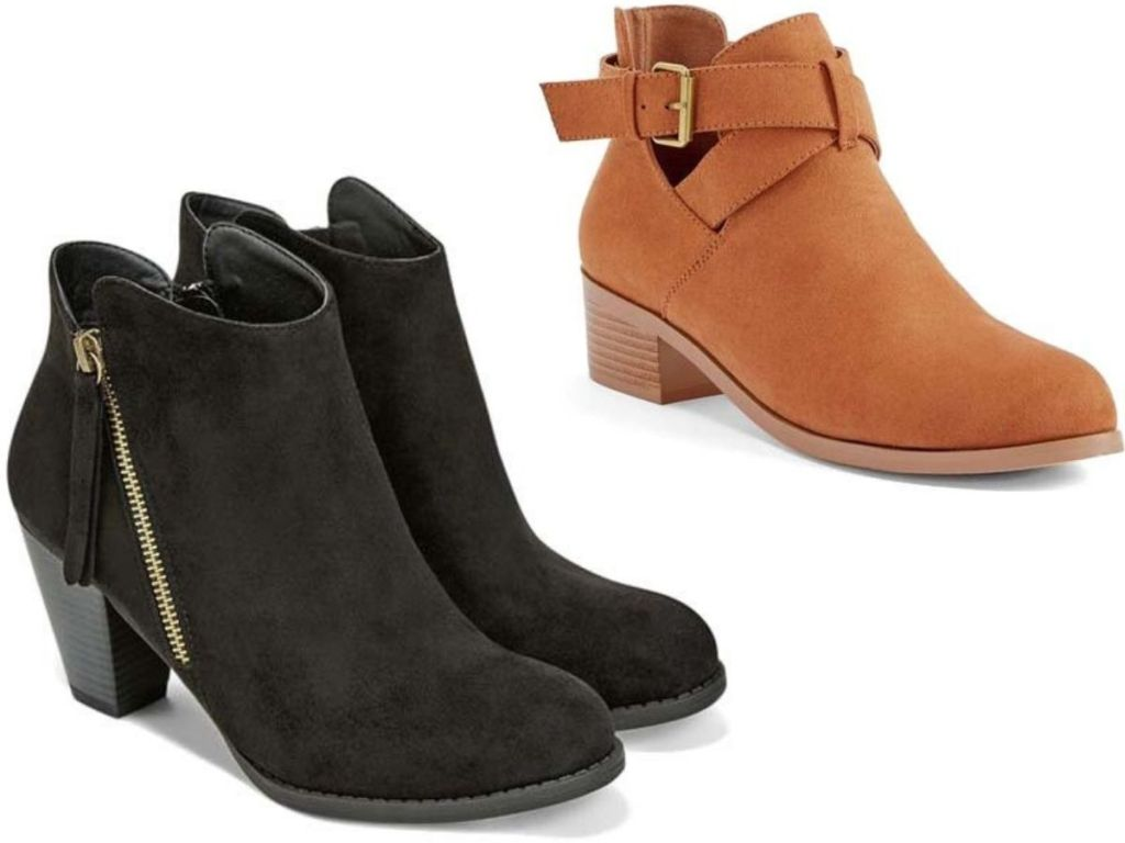 2 Pairs of Just Fab Womens Booties