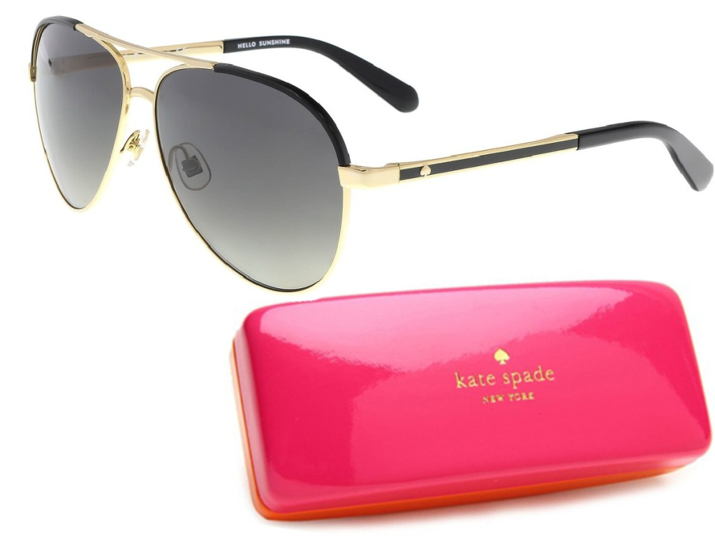 Kate Spade Amarissa Gold Tone Aviator Sunglasses with Gradient Lens