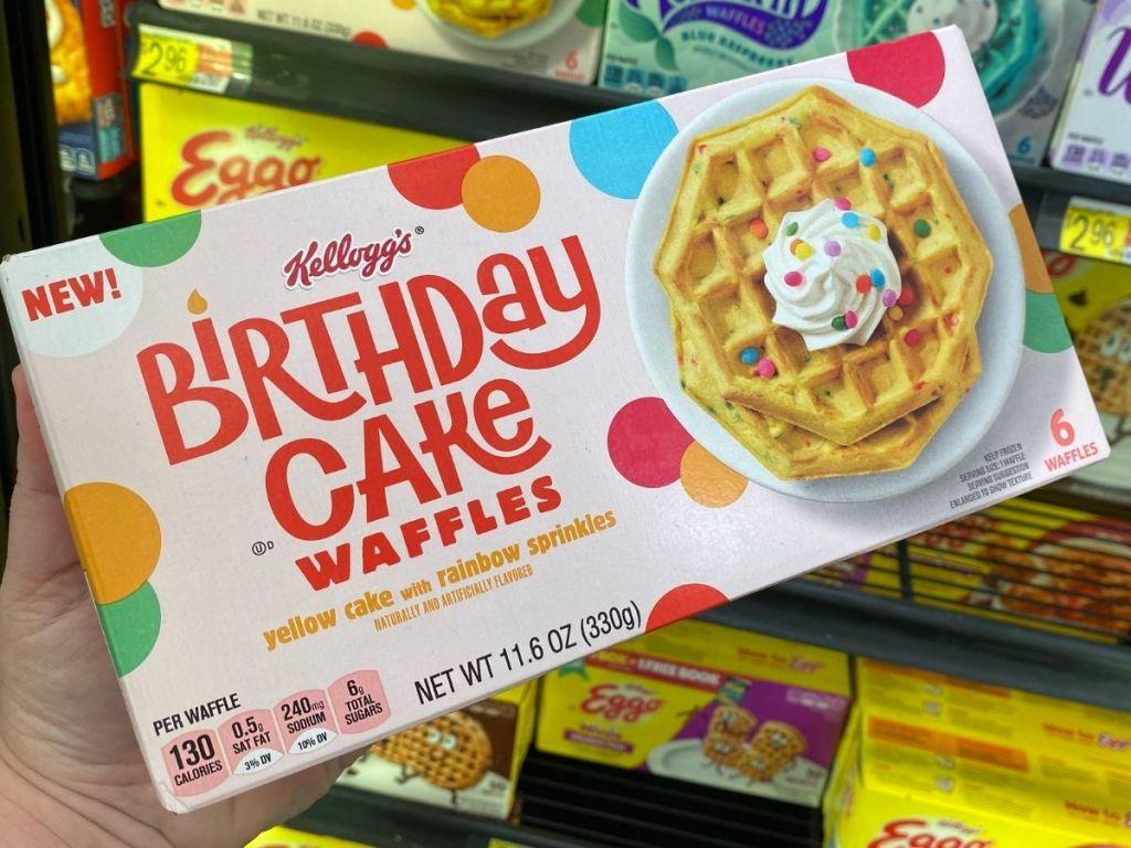 Kelloggs Birthday Cake Waffles