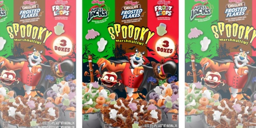 Limited-Edition Kellogg's Halloween Cereal Variety Pack Only $4.98 at Sams Club