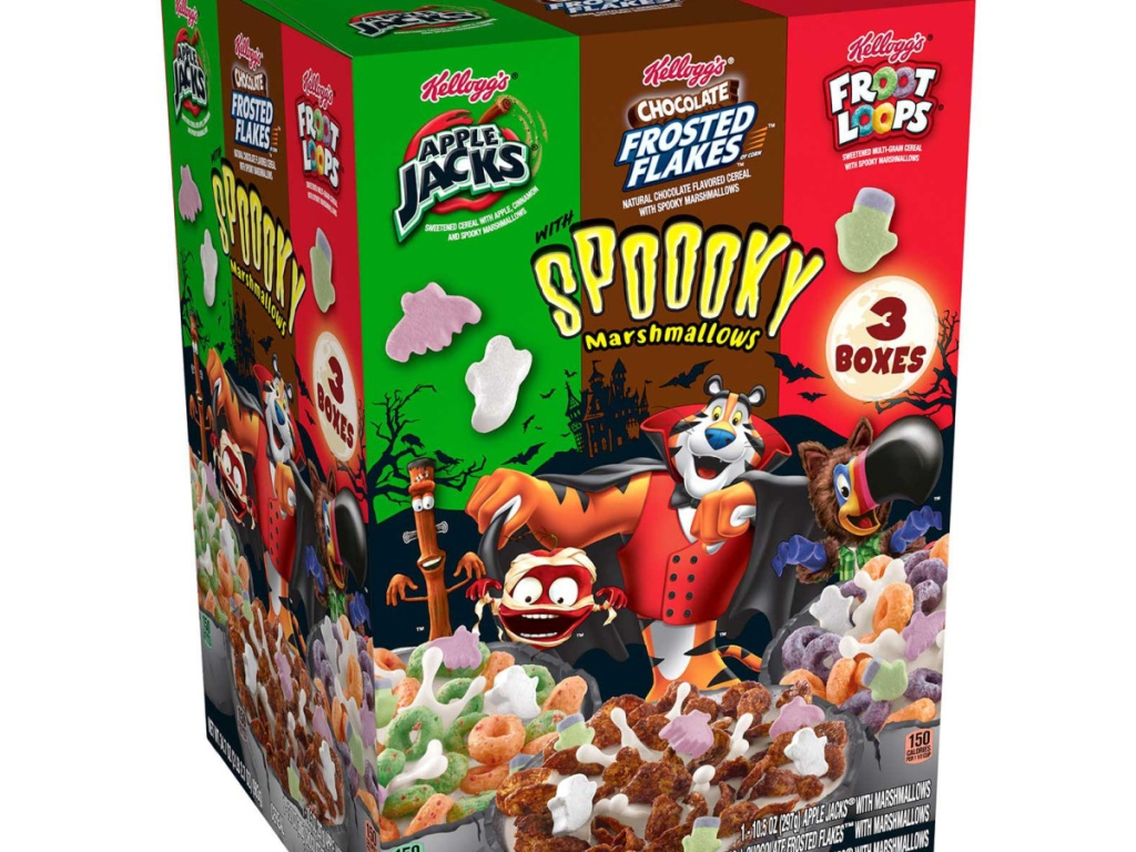 Halloween Cereals 2020 Limited Edition Kellogg's Halloween Cereal Variety Pack Only $4.98