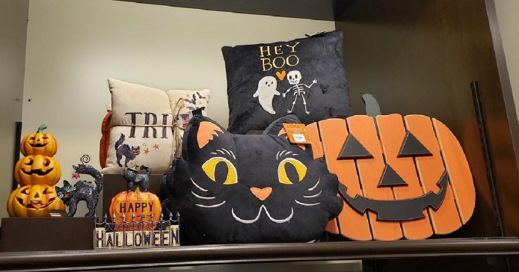 Halloween decor on display