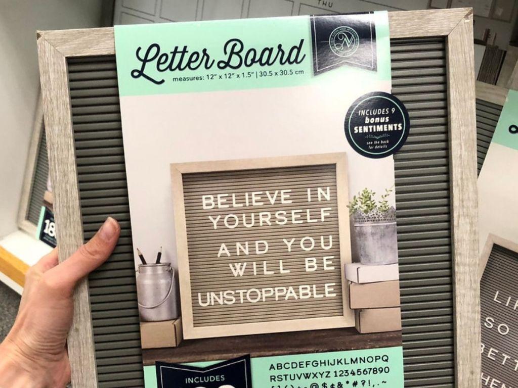 Kohl's Gray Letter Board