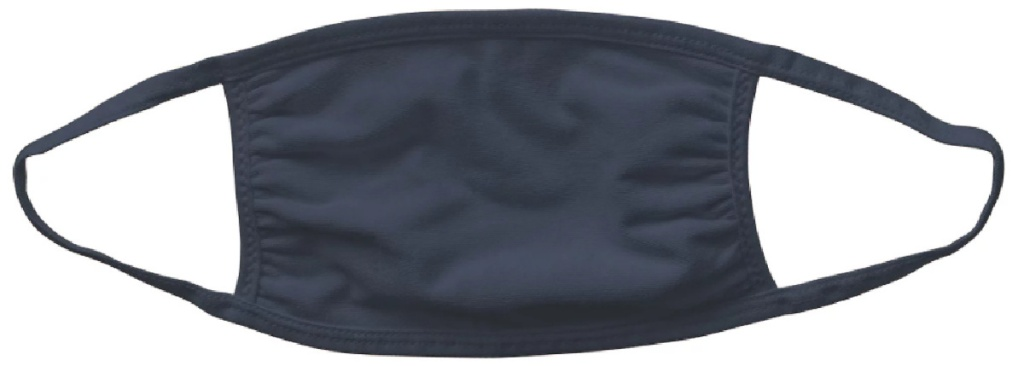 grey colored reusable face mask