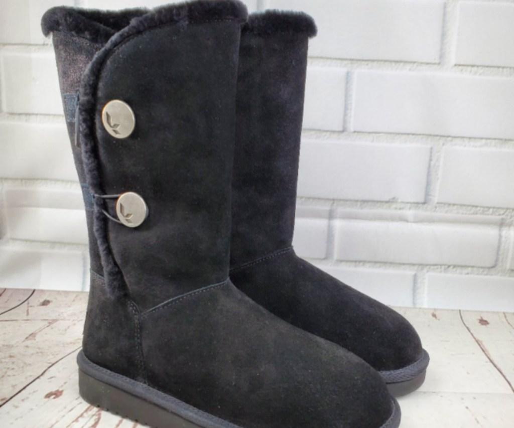 women's black winter boots