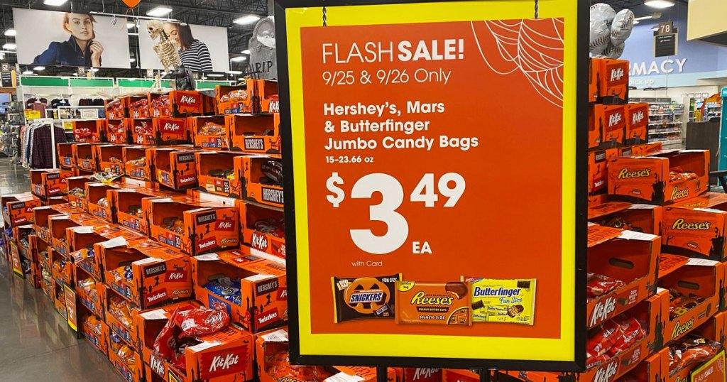 Kroger Flash sale candy display
