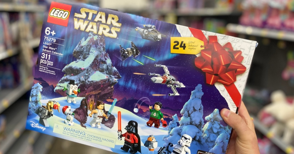 Hand holding Lego Star Wars Advent Calendar