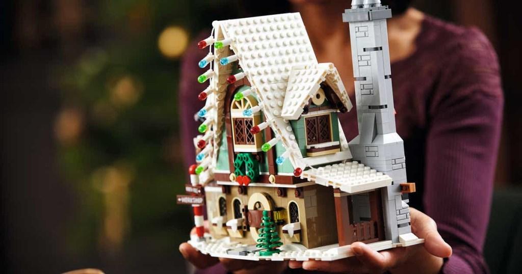 LEGO elf house in hands