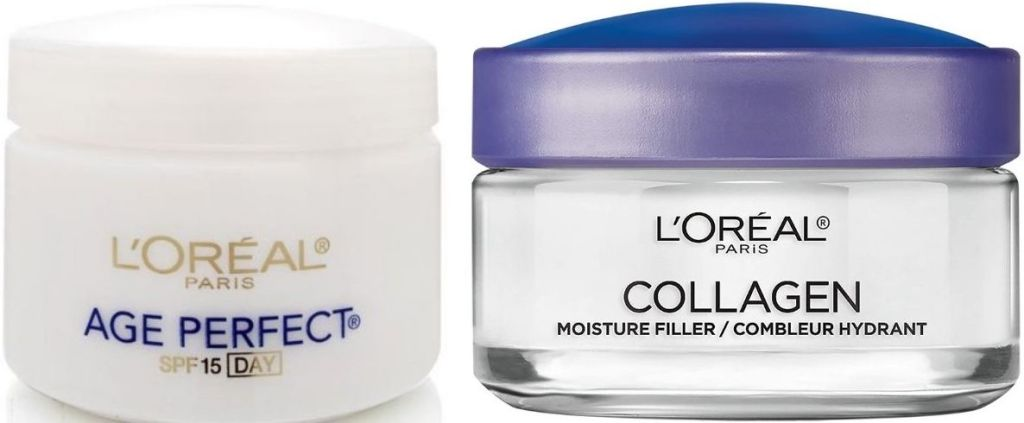two jars of L'Oreal moisturizers