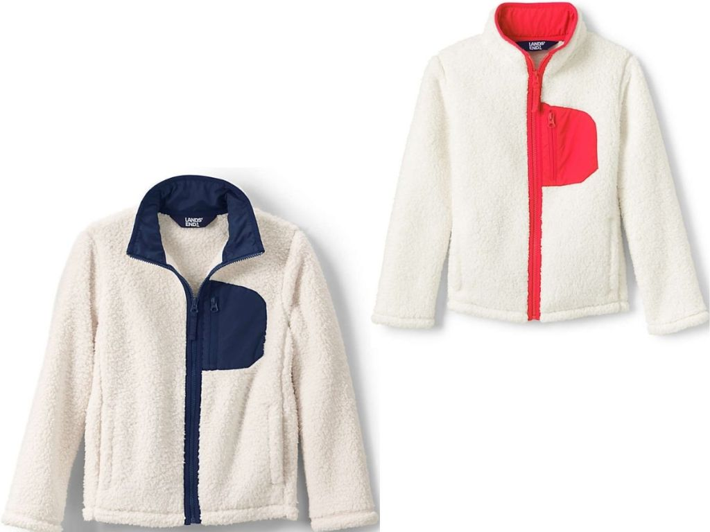 Two Kids Land's End Sherpa Jackets