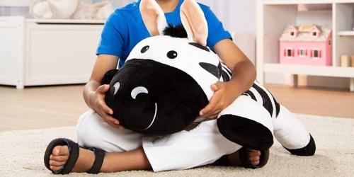 Melissa & Doug Stuffed Zebra Only $12.50 on Amazon (Regularly $25) | OVER 2-Feet Long!