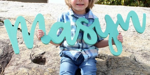 Oversized Personalized Name Sign Just $39.98 Shipped