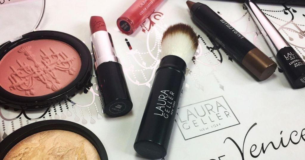 Laura Geller cosmetics on a box